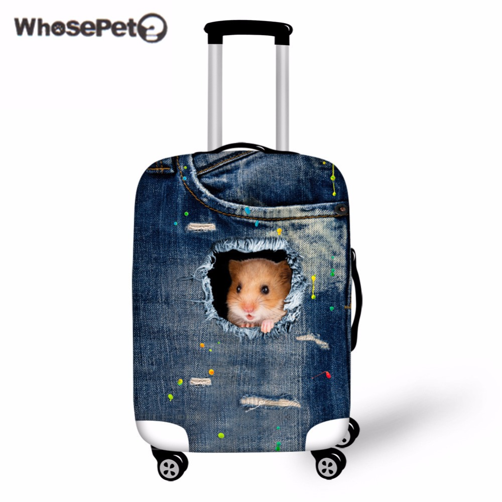 Washable Foldable Luggage Cover Protector Fits18-21 Inch Suitcase Covers Baby Panda Unicorn