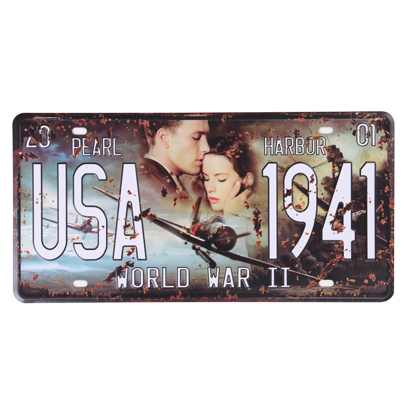 Movie Celebrity USA Vintage Metal Tin Signs Route 66 Car Number Vintage Garage License Plate Plaque Poster Club Wall 30 15CM C4 in Plaques Signs from Home Garden