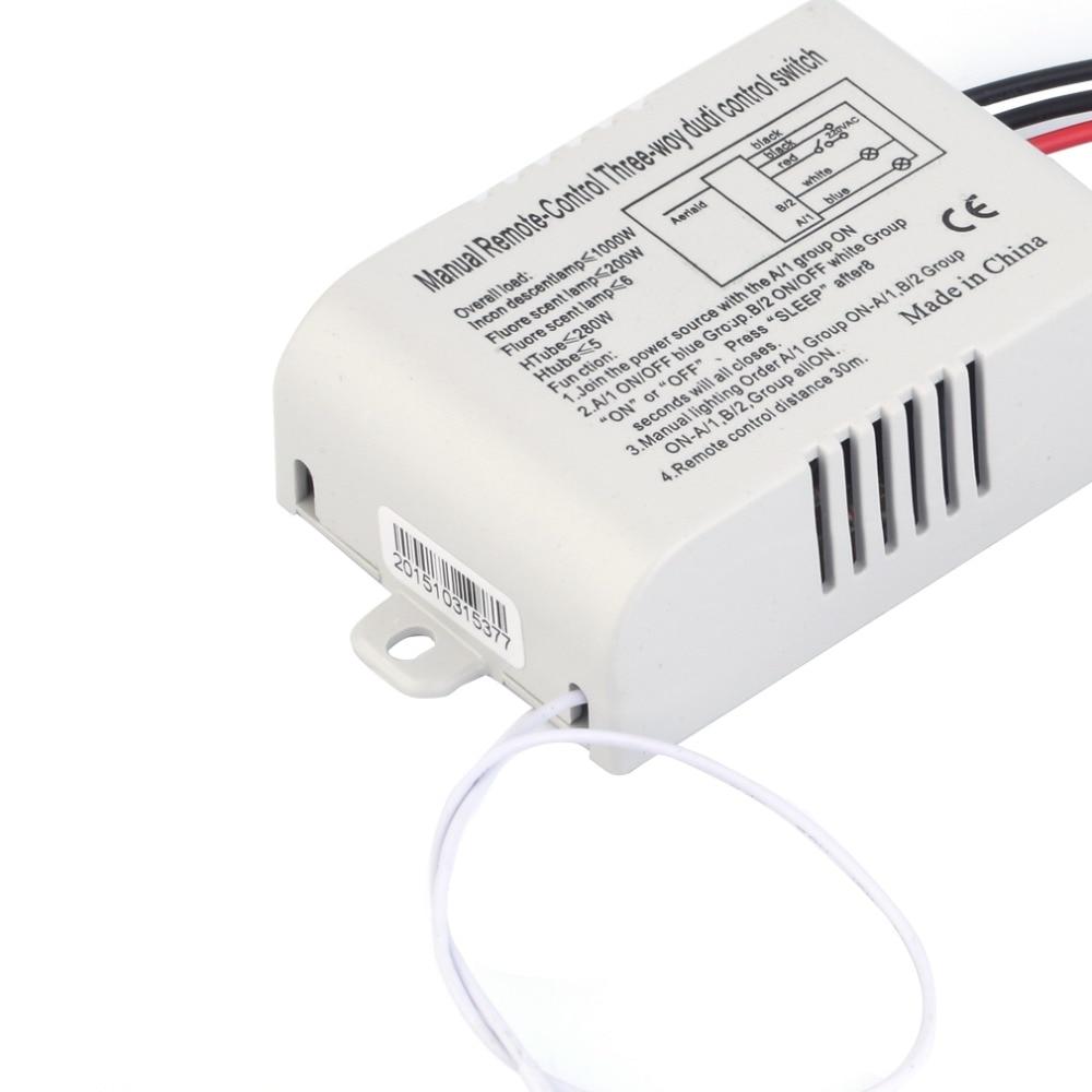 220V 3 Way ONOFF Digital RF Remote Control Switch Wireless For