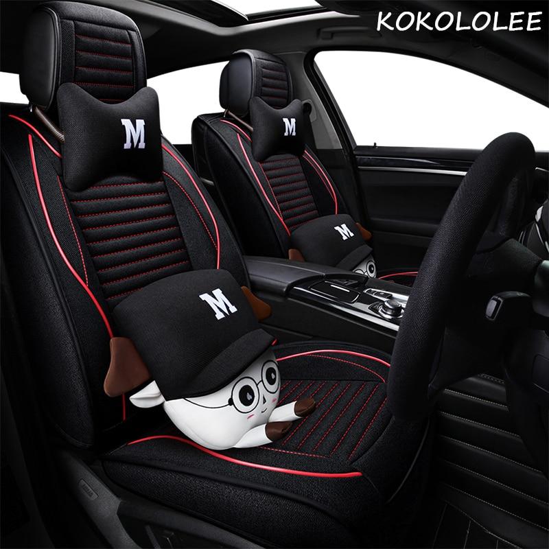 Kokololee housse de siège de voiture pour BMW mini clubman countryman pacemen coupé ensemble complet housses de siège