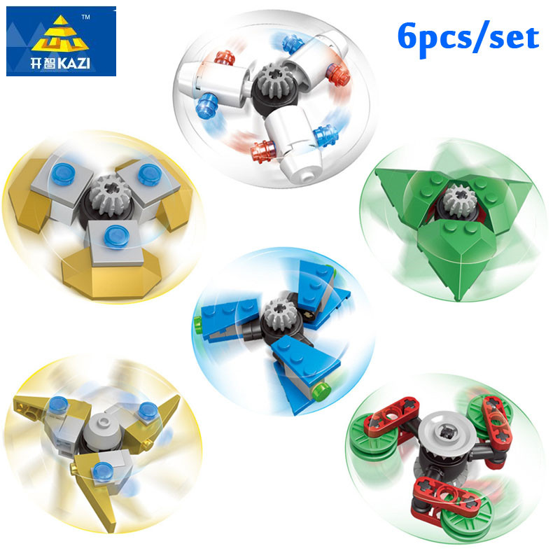 kazi 6pcs/Set DIY fidget spinner Buildable Spiner Plastic ...