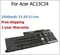 2640 mah 11.4 V AC13C34 batería del ordenador portátil para Acer para Aspire E3 V5-122P 3ICP5 / 60 / 80 KT.00303.005 V5-132 E3-111 V5 V5-122