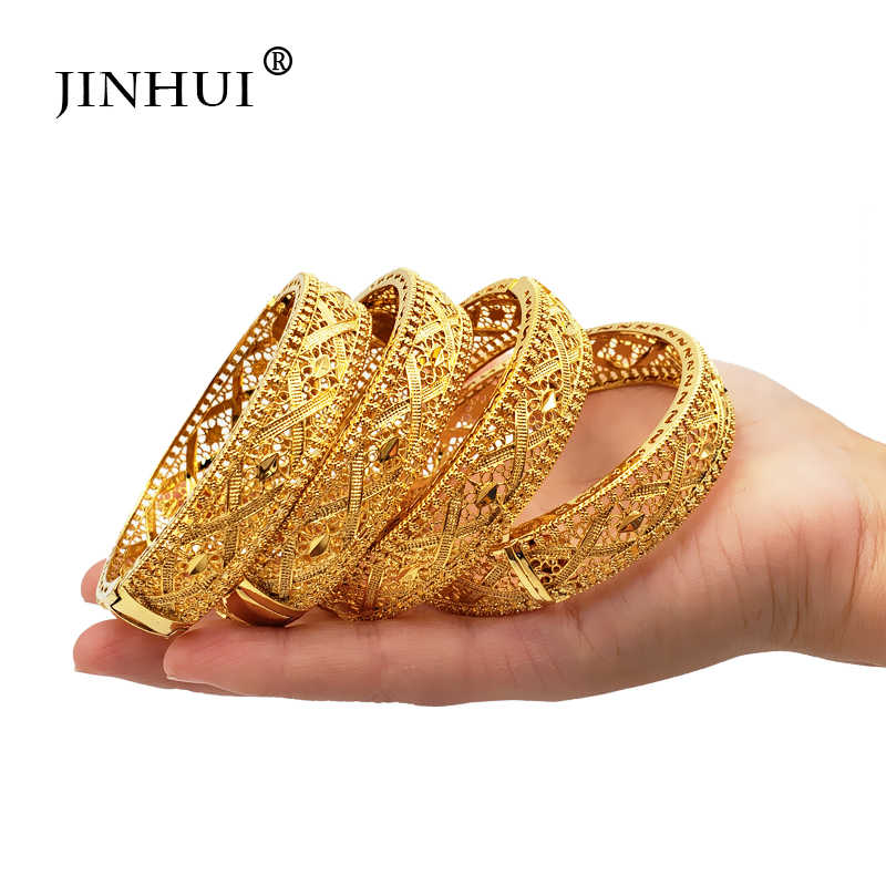 Jin Hui 2019 New fashion Jewelry Ethiopian Bangle for Women Dubai can open Bracelet Jewelry African Arab Gifts Bride jewelry