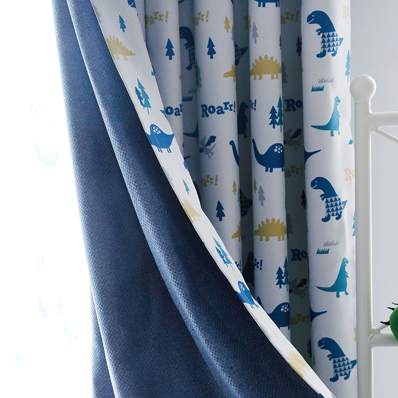 US $15.12 16% OFF|Budloom blackout dinosaur curtains for children room  cartoon curtains for boys room cute window drapes for kids bedroom-in  Curtains ...