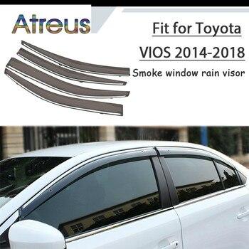 Atreus 1set ABS For 2018 2017 2016 2015 2014-2014 Toyota Vios Accessories Car Vent Sun Deflectors Guard Smoke Window Rain Visor