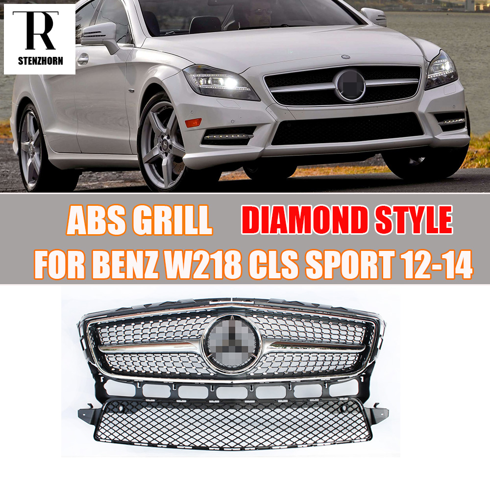 W218 abs diamond style front grill grille for mercedes for Mercedes benz grills