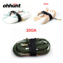 Ohhunt Jacht Pistool Boring Snake Cleaning Kits 12GA 16GA 20GA Gauge Cleaner Touw voor Tactische Shot Gun Barrel Brons Accessoires(China)