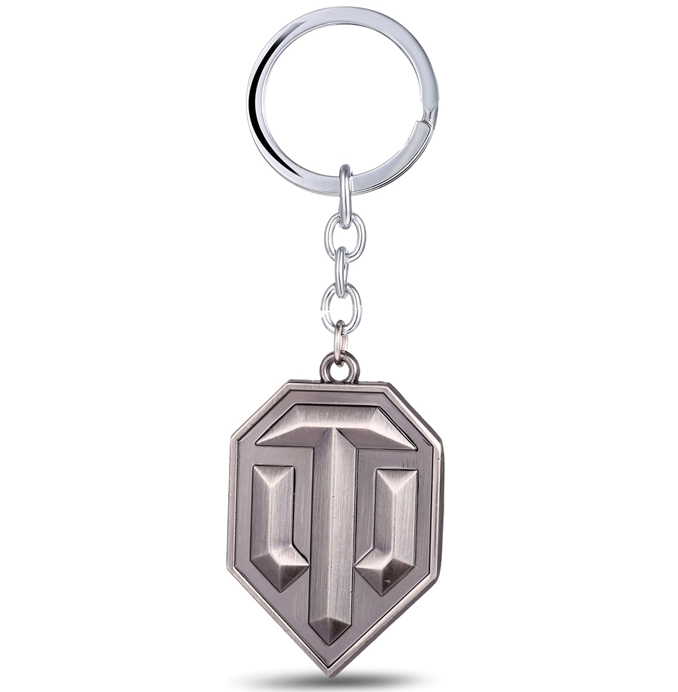 MS JEWELS Game Gifts World of Tanks Logo Keychain Metal Key Rings For Present Chaveiro K ...