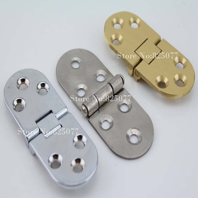 2 unids Bisagra Mesa Cepillado Oro/Espejo/Cepillado Colgajo de Bisagra Mesa Plegable 70/80*30*2.5mm accesorios Bisagras Para Muebles HM169