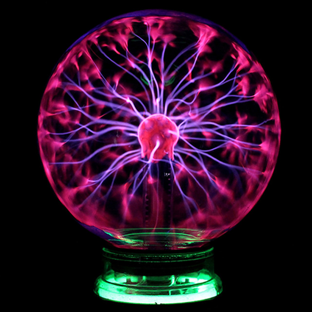 Novelty Glass Magic Plasma Ball Lamp Finger Touch Activated Blitzball Table Night Light Lamp Home Decoration Accessories(China)