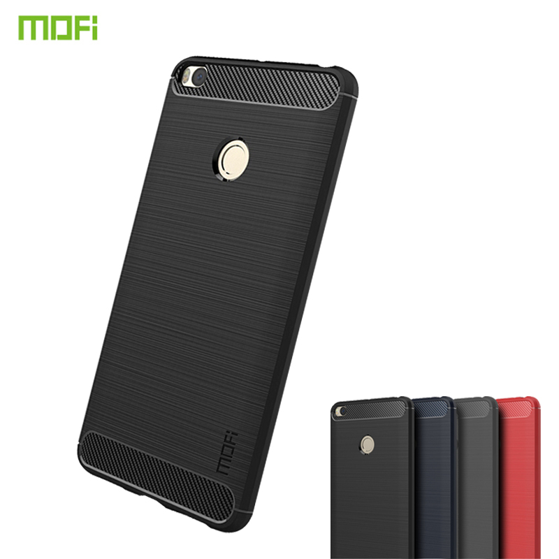 For Xiaomi Mi Max 2 Case MOFi Carbon Fiber Heavy ShockProof Full Protector Fitted Soft TPU Case For Xiaomi Mi Max 2 Back Cover in Fitted Cases from Cellphones Telecommunications