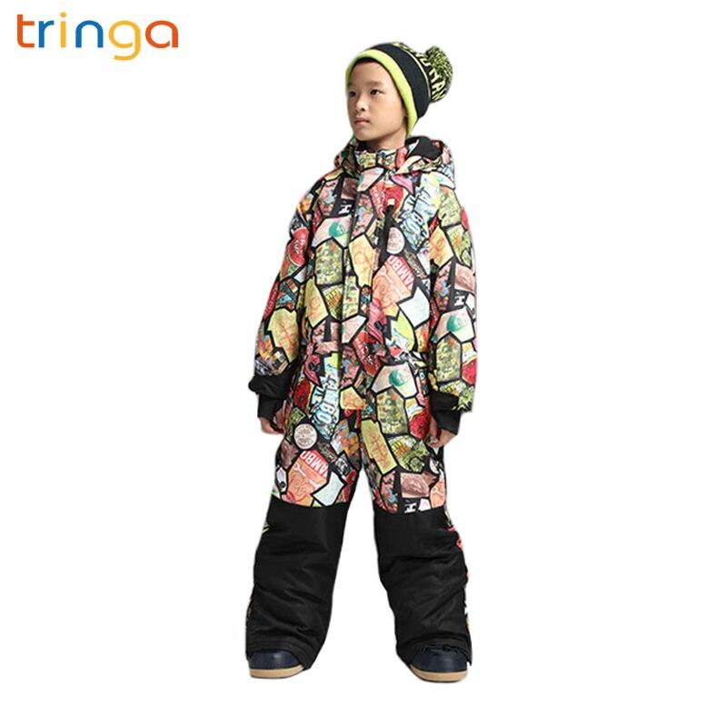 Combinaison de ski hiver pour enfants simple et double planche épaisse chaude imperméable combinaison de ski imperméable manteau d'hiver extérieur pour enfants