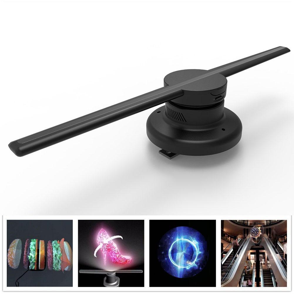 Litake 85-265 V 42 cm/16.54 Wifi 320 LED s 3D hologramme projecteur hologramme lecteur LED affichage ventilateur publicité lumière APP contrôle