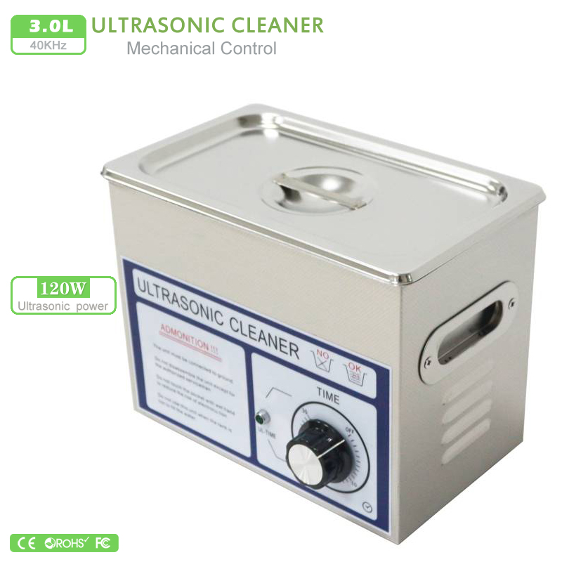 AC110 220V ultrasonic cleaner 3L PS 20T 120W 40000 Hz Frequency PCB hardware lad equipment free