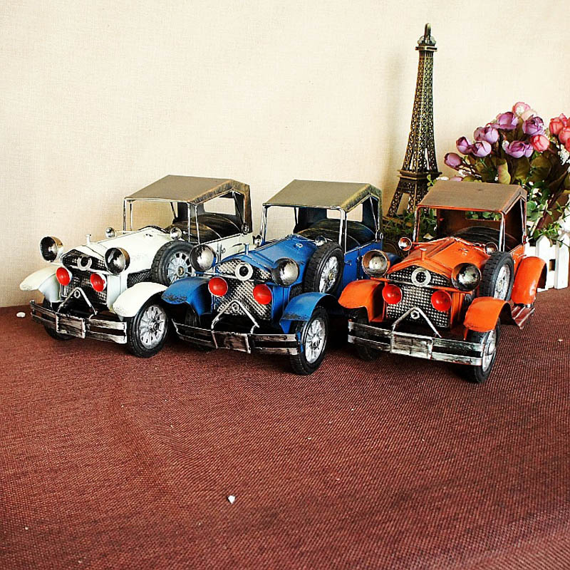 ФОТО mini amazing classic collectible handicraft metal old car model classic toys for children with excellent headlights kids gift
