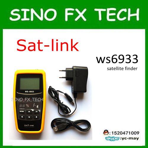 ФОТО Original Satlink WS-6933 DVB-S2 FTA CKU Band 6933 Digital Satellite Finder Meter with 2.1 Inch Display monitor