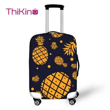 Thikin Pinapple Travel Luggage Cover for Girls Cartoon School Trunk Suitcase Protective Bag Protector Jacket