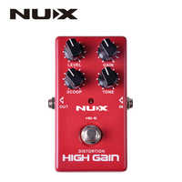 NUX HG-6 High Quality Guitar Distortion High Gain Electric Effect Pedal True Bypass Red Durable Guitar Parts & Accessories
