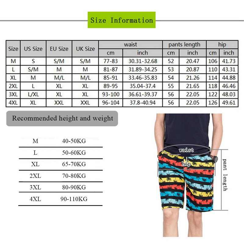 Print Swiming Shorts Männer Kordelzug Casual Sunga Masculina Lose Quick Dry Board Shorts Elastische Taille Usa Strand Shorts