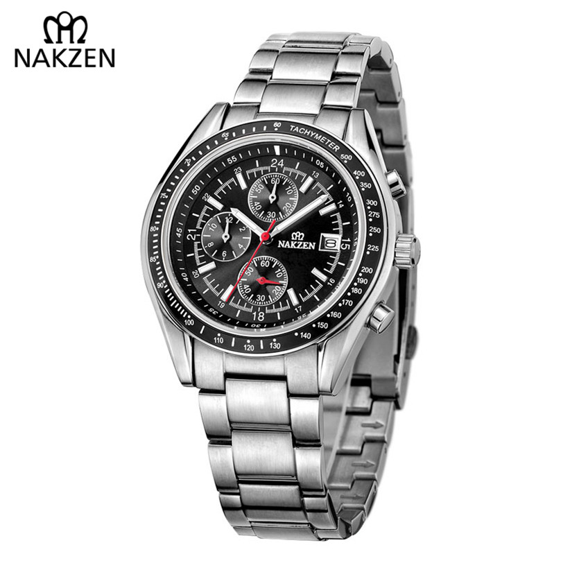 NAKZEN Top Luxury Brand Famous Business Quartz Watch Stylish Men Watch Popular Stainless Waterproof Distinguished Clock For Gift ...