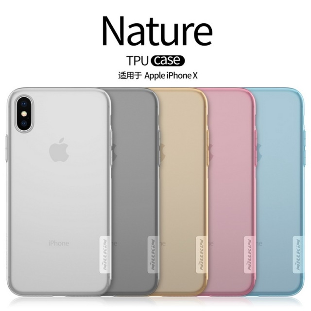 uk availability 9f01f bbef1 US $6.88 |For Apple Iphonex IPHONE X Silicone Case Nillkin Transparent  Clear Soft TPU Cases Back Cover mobile phone bags colorful shell-in Fitted  ...