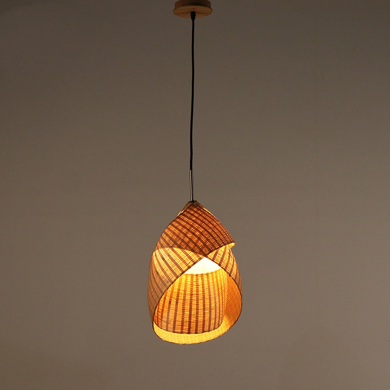 Bamboo Decorative Creative Pendant Lamp Bedroom Bedside Lamp Personality Hand knitted Restaurant Home Decor Light Pendant Lights|Pendant Lights| |  - title=