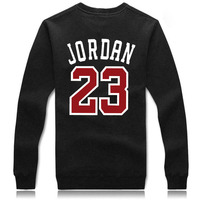 2015 Spring Autumn Fashion Brand 23 JORDAN Men Sportswear Print Men Hoodies Pullover Hip Hop Mens