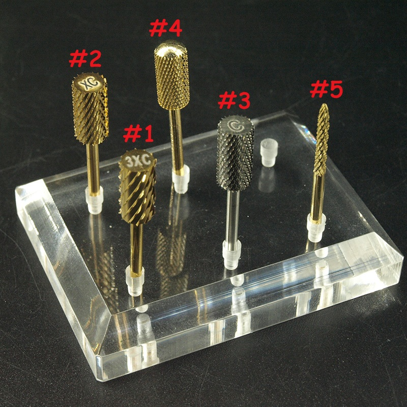 EasyNail Pro. 5 Түрлері Gold Volfram Carbide Bur Nail Drill Бит Cutter Тырнақ Түйін Электр Тінтіуір Manicure Machine Accessories