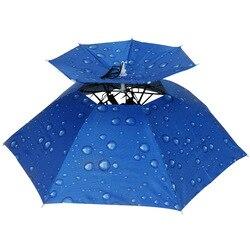 Czapka wędkarska Outdoor Sport czapka parasolka turystyka Camping nakrycia głowy czapka kapelusze na głowę kamuflaż składany krem przeciwsłoneczny cień czapka parasolka Czapki wędkarskie Sport i rozrywka -