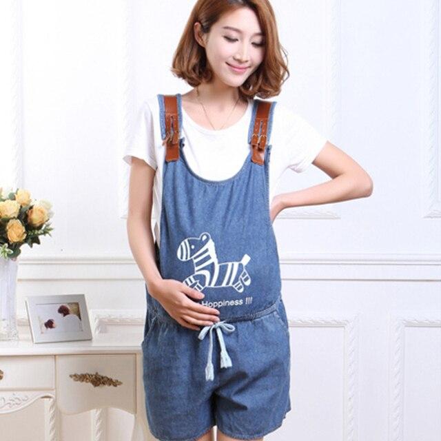 20dacad287708 Blue Denim Jumpsuit For Pregnant Women Maternity High Waist Denim Suspender  Jeans Overalls Pregnancy Causal Bib