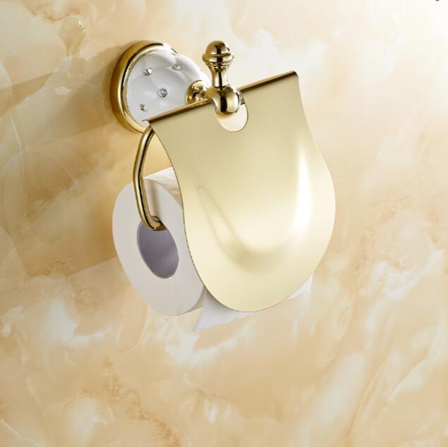 golden toilet paper holder,roll holder,tissue holder,solid brass, solid yellow bathroom accessories
