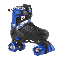 eac05991559 Leather Roller Skates Double Line Skates 3 Colors Women Lady Adult White PU  4 Wheels Skating