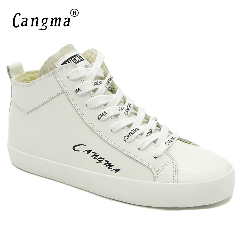 CANGMA Italy Designer Woman's Casual Shoes White Sneakers For Girls Genuine Leather Shoes Mid Women Footwear Female Trainers girls and ladies favorite white roller skates with full grain genuine leather dual lane roller skate shoes for adult skating