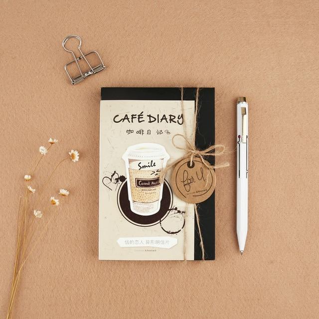 30 Pcslot Coffee Cup Heteromorphism Postcard Greeting Card