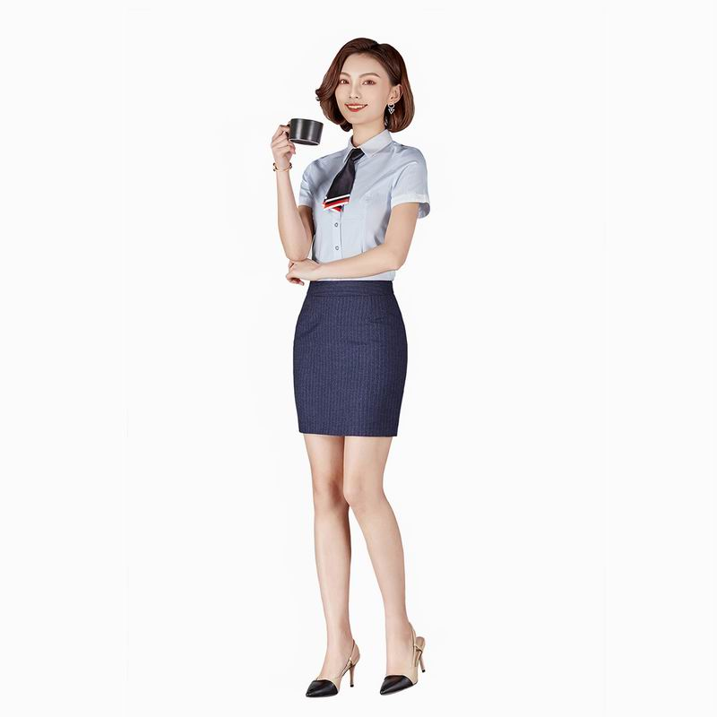 Business Formal Women Skirt Suits 2 Piece Set Office Uniform Women Office Ladies Clothes Uniform Style Business Shirt With Skirt
