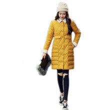 Long Sleeve Fashion 2019 Autumn Winter Women Jackets Turn-Down Collar Down Cotton Jacket Light&Thin Slim Padded Winter CoatsQ586