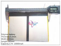 32132182 Lithium Ion Batteries Tablet PC Talk9x U65gt Rechargeable Battery 3 2 132 182 3 7V