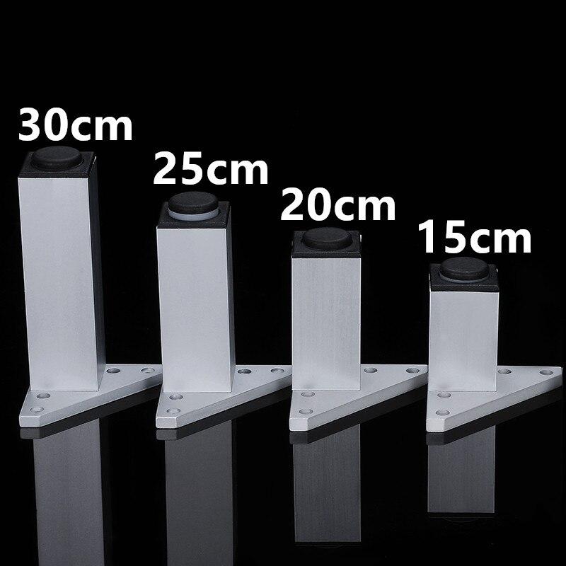 цена на 15cm/20cm/25cm/30cm Adjustable furniture legs Aluminum wardrobe leg cabinet leg sofa leg with silicon base Furniture Caster