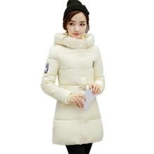 New Winter Jacket Women Long Slim Down Coat Plus Size Thick Padded Coat Female Hooded Parka Women's Winter Jacket Coats IF615