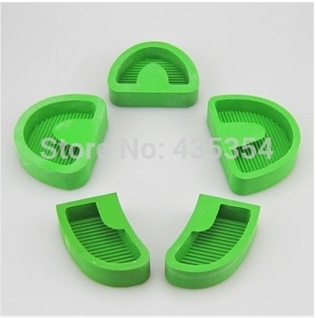 5Pcs Silicone Tray Base Dental Lab Lab Model Former Base Molds green