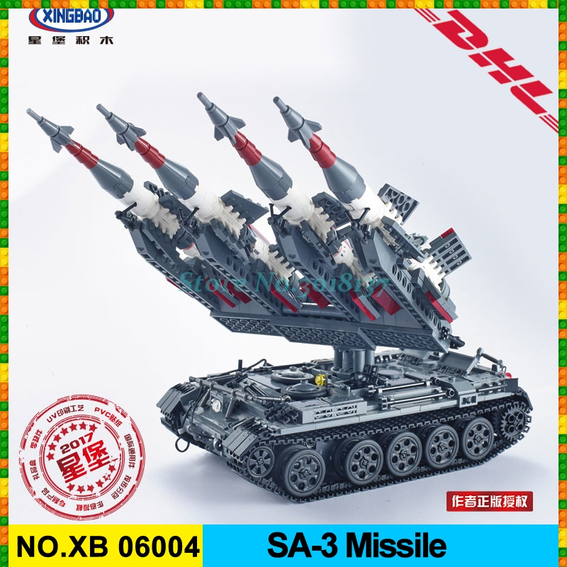 Xingbao 06004 1753Pcs Military Series The SA-3 missile and T55 Tank Set Children Educational Building Blocks Bricks Toys Gifts