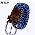 2017 new arrival stretch woven canvas belt men and women elastic belt pin buckle belt Universal trouser unisex belts
