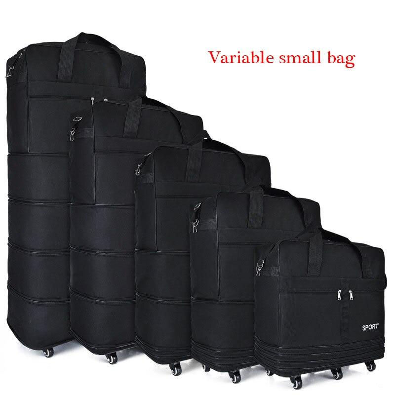 Bagages enregistrés à l'étranger apprentissage en plein air roue de marche universelle pliable sac de rangement de bagages Mobile sac à dos roulant