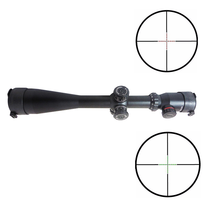 10 40x50 Long Range Cross Reticle Hunting Rifle Scope Green Red Illuminated Tactical Outdoor Optics Sight