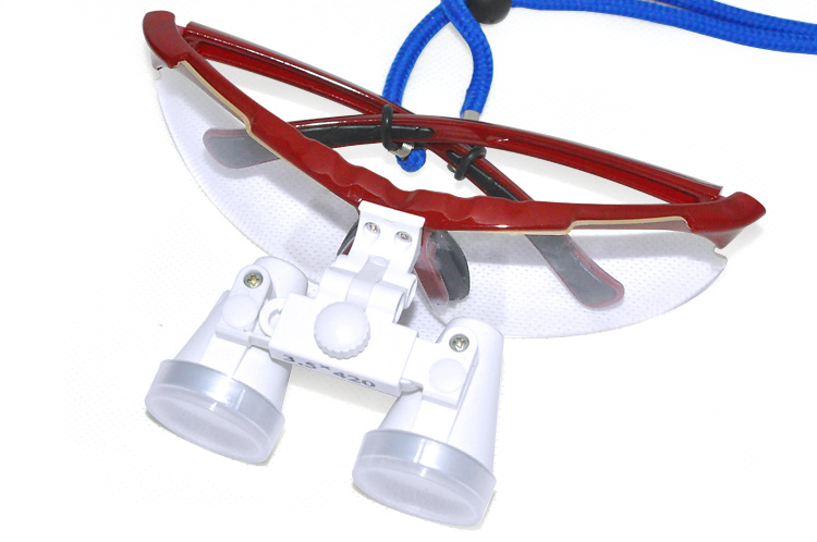 Hot selling red  3.5X420 mm Dentist Dental Surgical Medical Binocular / magnifier Loupes  Optical Glass  цены