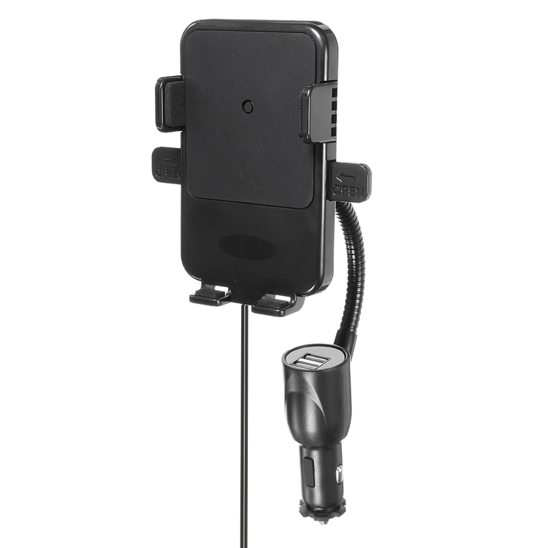 Универсальный двойной 2 USB Беспроводной мобильный телефон автомобильное Зарядное устройство + держатель Авто-прикуриватели зарядки для …