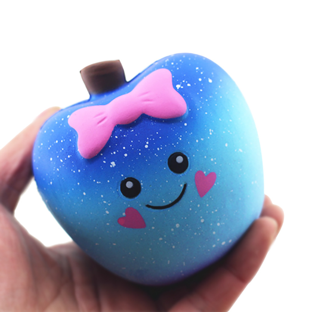 Cute Squishy Apple 2019 Scented Super Squishy Slow Rising Kids Toy Stress Reliever Toy Squeeze Toy Squishy Ball Squishy Fruit