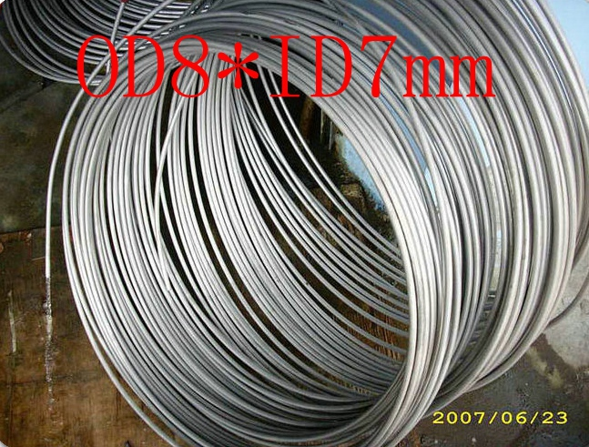 OD8mm*ID7mm,Stainless steel gas line pipe,stainless steel tube,stainless steel coil pipe