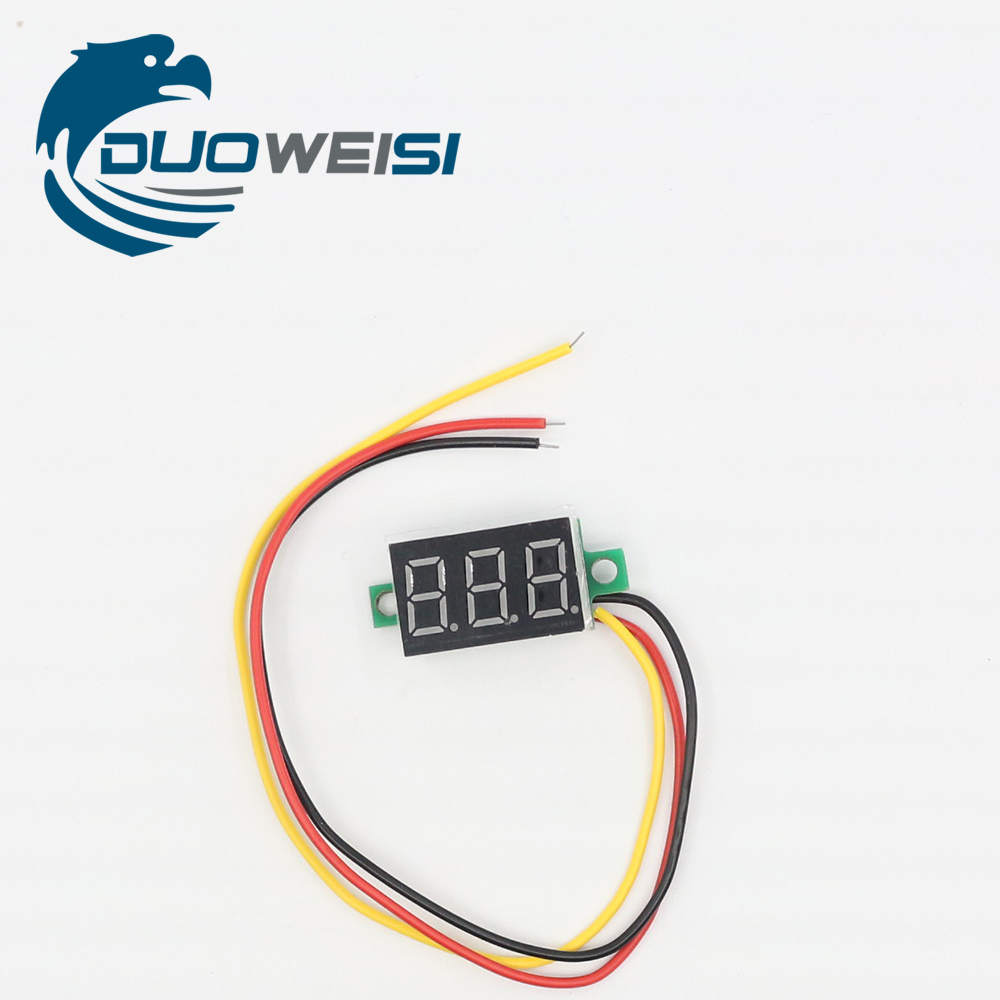 RD DC 0-100V 0.36 Digital Voltmeter Three Wires 3 Bit car Voltage Panel Meter Display LED Color new dc 4 5v 30v 2 wires 3 bits red digital voltage panel meter voltmeter tester for car