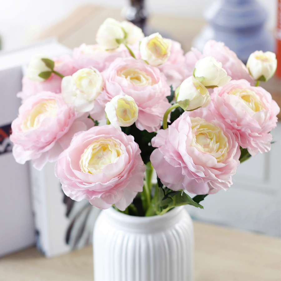 2 heads silk artificial flowers white pink champagne fake lotus maybe little flower drop off for delivery just plug on to the branches then it will be ok please read carefully and think about this before shopping izmirmasajfo
